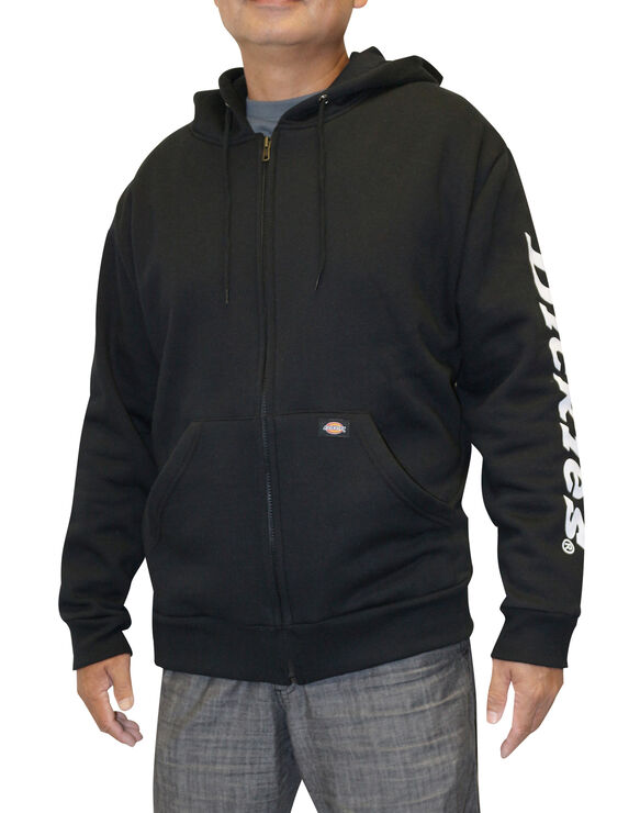 Men's Graphic Full Zip Hooded Dickie's Fleece - BLACK (BK)