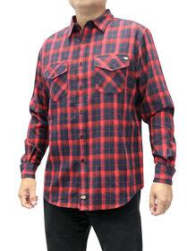 Chemise en flanelle avec l'appliqué Dickies - Noir/rouge anglais (BKER)