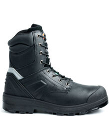 "8"" Overtime Work Boot - BLACK (BK)"