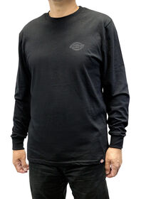 Men's Graphic Long Sleeve Dickies Shirt - BLACK (BK)
