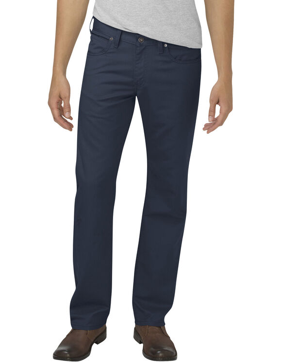 Dickies X-Series Flex Regular Fit Straight Leg 5-Pocket Pant - STONEWASHED DARK NAVY (SDN)