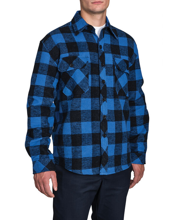 Doe Skin Shirt - BLUE PLAID CANADA F14M800 (CPB (N47)