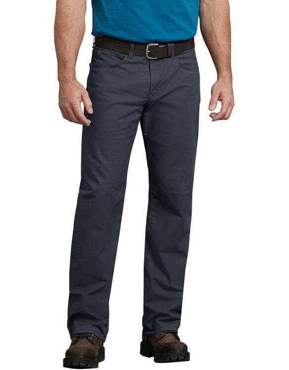 FLEX Regular Fit Straight Leg Tough Max™ Ripstop 5-Pocket Pant - RINSED DIESEL GRAY (RYG)