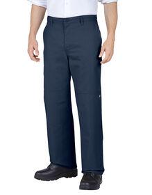 Pantalon de travail aux genoux doublés avec poche polyvalente - marine foncé (DN)