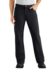 Regular Fit Straight Leg 6-Pocket Duck Jean - RINSED BLACK (RBK)