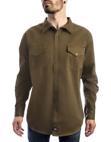 Long Sleeve Woven Shirt - ARMY GREEN (AR9)