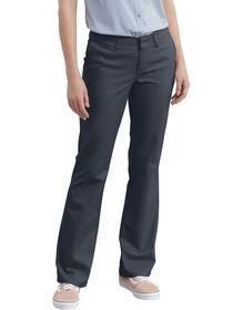 Pantalon en étoffe croisée extensible pour femme - marine foncé (DN)