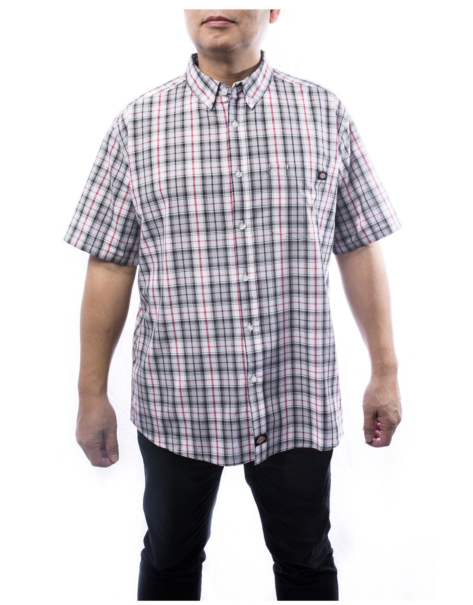 Light coloured men 39 s short sleeve plaid shirt dickies canada for Dickies short sleeve plaid shirt