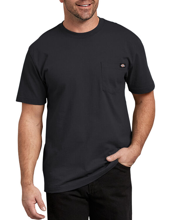 Short Sleeve Heavyweight Crew Neck Tee - BLACK (BK)