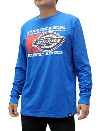 T-shirt à manches longues imprimés - Bleu royal (RB)