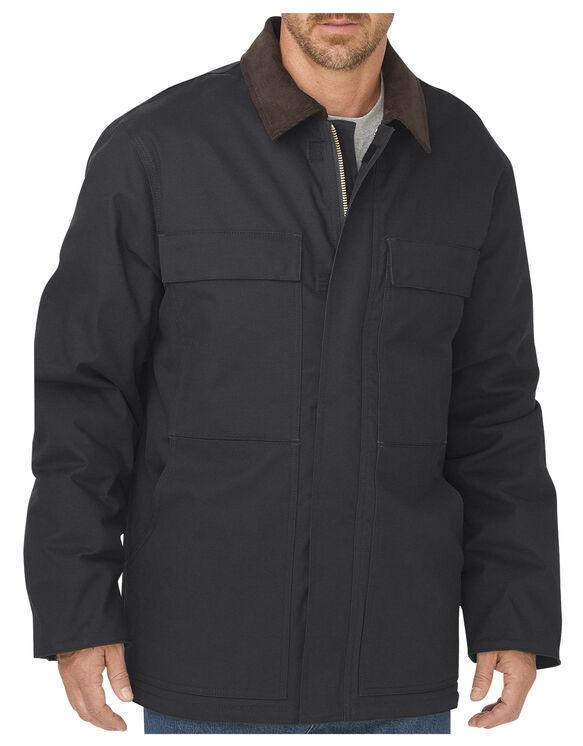 Manteau en coutil brossé souple - Noir (BK)