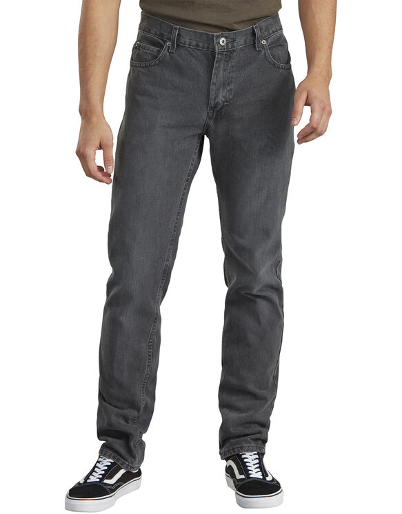 Dickies X-Series Slim Fit Straight Leg 5-Pocket Denim Jean - HERITAGE GREY DENIM (HGD)