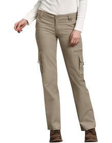 Pantalon cargo décontracté pour femmes - Sable du désert rincé (RDS)
