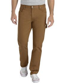 Pantalon de menuisier en tissu souple - coupe cintrée - Coutil brun délavé (SBD)