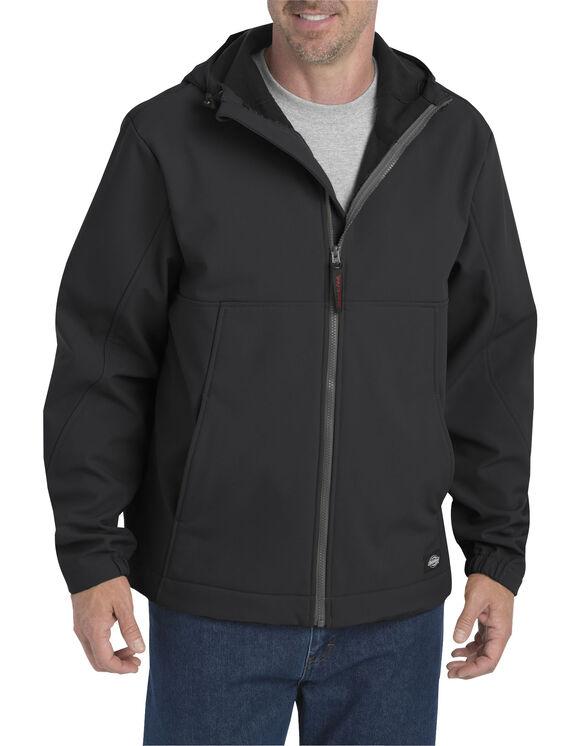 Flex Softshell Jacket with Hood - BLACK (BK)