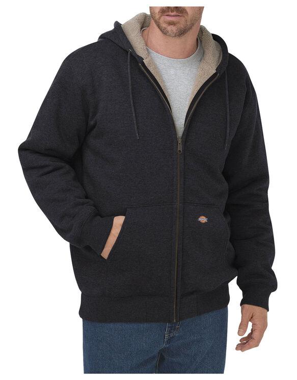 Veste à capuchon doublée de molleton Sherpa - Noir (BK)