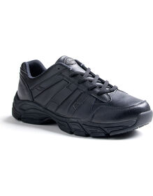 Men's Slip Resisting Athletic Lace Work Shoes - Black (FBK) (FBK)