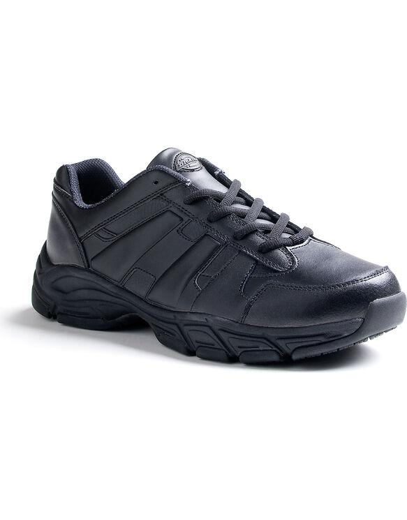 Men's Slip Resisting Athletic Lace Work Shoes - Black (FBK) (FBK)