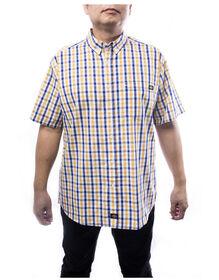 Chemise a carreaux manches courtes pour homme - Jaune (YL)