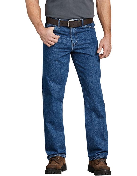 Jeans à 5 poches - Bleu indigo délavé (SNB)
