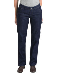 Women's Relaxed Fit Carpenter Denim Jean - DARK INDIGO BLACK (DIB)
