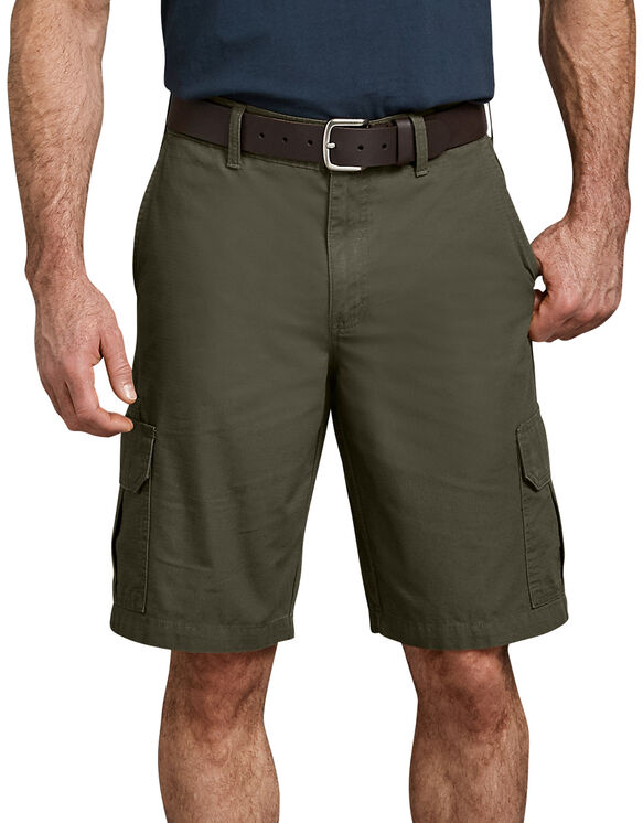 "11"" Relaxed Fit Lightweight Ripstop Cargo Short - RINSED MOSS GREEN (RMS)"