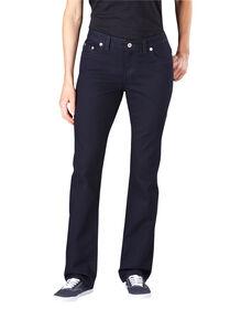 Jeans en denim pour femmes, coupe ajustée, jambe droite - Vintage Dark (VND1)