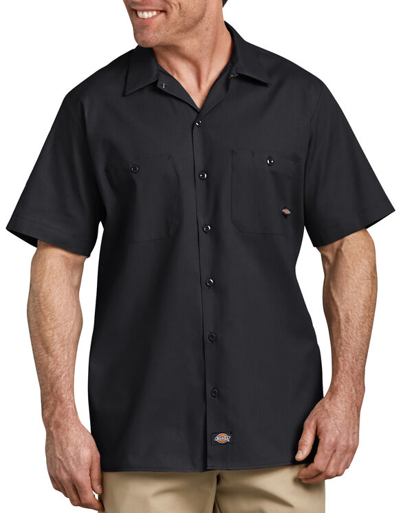 Short Sleeve Industrial Work Shirt - BLACK (BK)