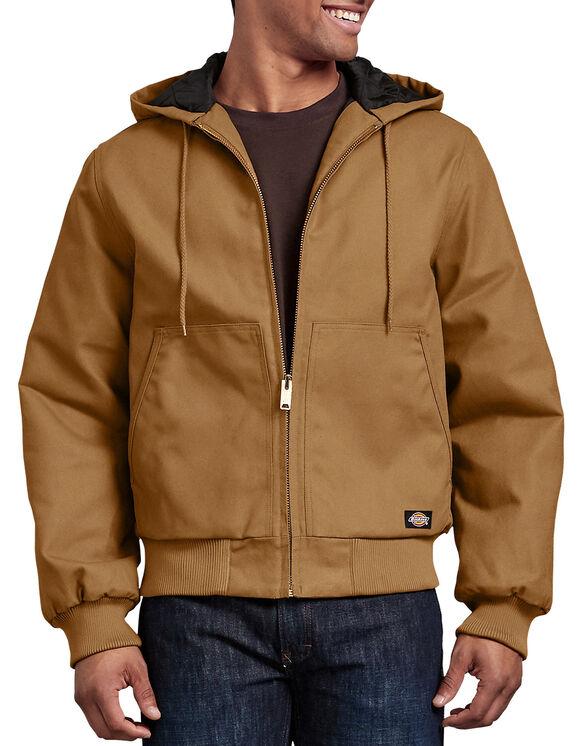 Veste en toile rigide avec capuchon - Coutil brun (BD)