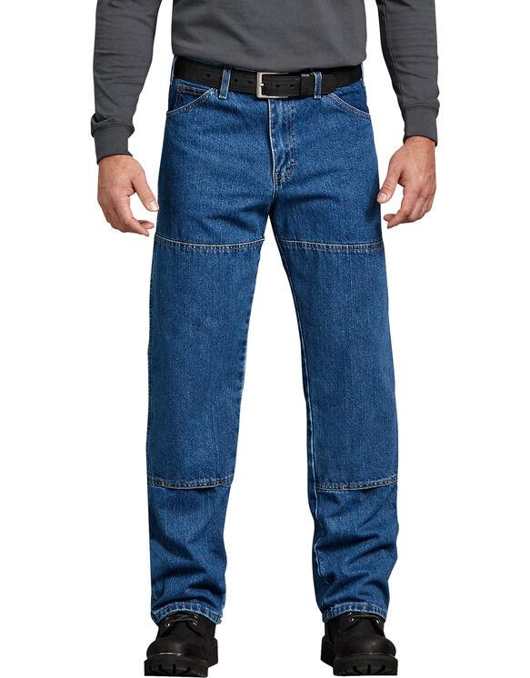 Jeans Workhorse délavé à la pierre coupe décontractée - Bleu indigo délavé (SNB)