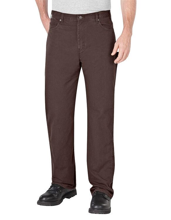 Pantalon de menuisier indéchirable - Brun foncé rincé (RDB)