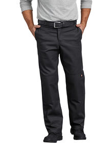 Flex Regular Straight Fit Double Knee Work Pant - BLACK (BK)