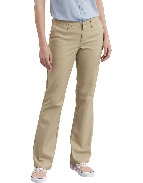 Women's Slim Fit Boot Cut Stretch Twill Pant - Desert Khaki (DS)