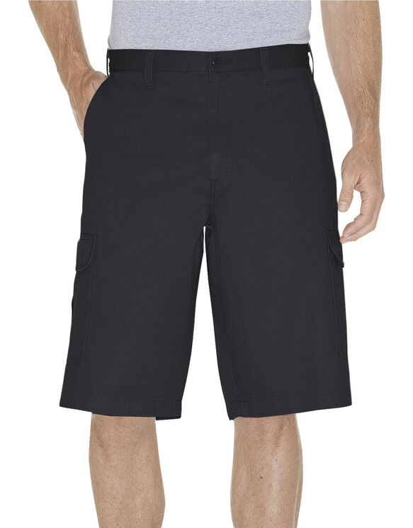 "13"" Loose Fit Cargo Shorts - Rinsed Black (RBK)"