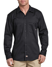 Long Sleeve Industrial Cotton Work Shirt - Black (BK)