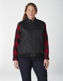 Women's Plus Quilted Vest - Black (BK)