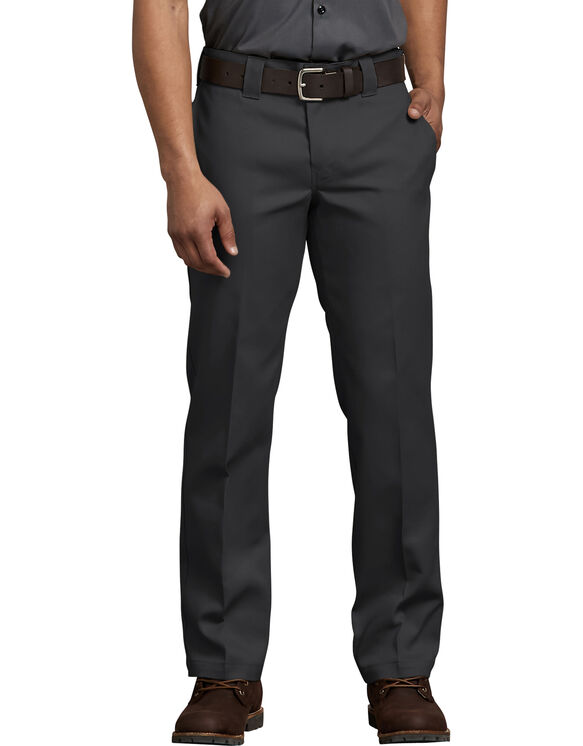 FLEX Slim Fit Straight Leg Work Pants - Black (BK)