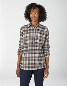 Women's Long Sleeve Plaid Shirt - Dusty Violet Plaid (POY)