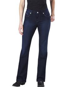 Jeans en denim pour femmes, coupe ajustée, jambe semi-évasée - Vintage Dark (VND1)