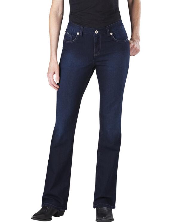 Women's Slim Boot Cut Denim Jean - VINTAGE DARK 1 (VND1)
