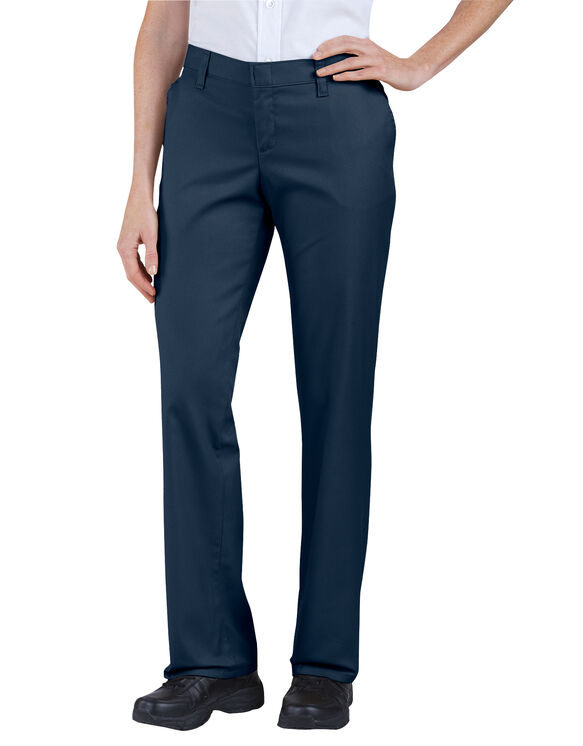 Women's Premium Relaxed Straight Flat Front Pant - Dark Navy (DN)