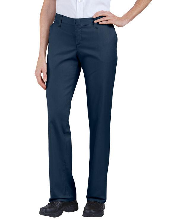 Women's Premium Relaxed Straight Flat Front Pants - Dark Navy (DN)