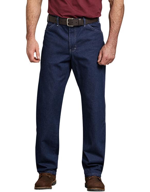 Relaxed Straight Fit Carpenter Denim Jeans - Rinsed Indigo Blue (RNB)