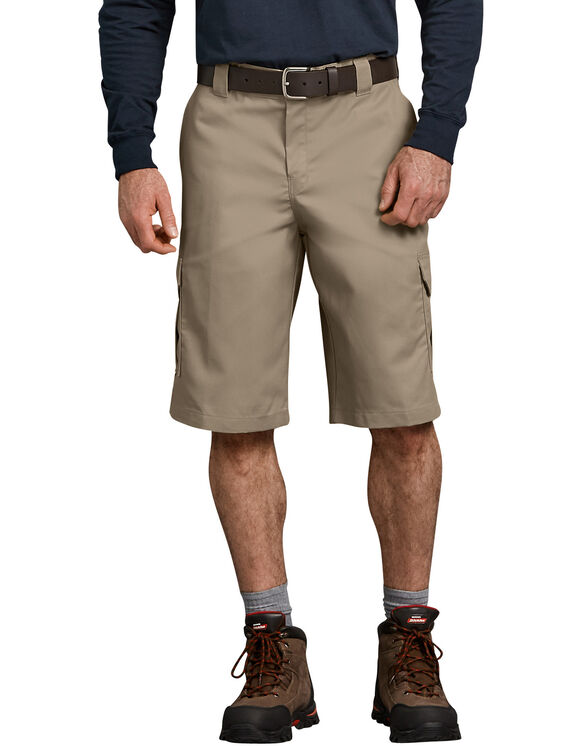 "FLEX 13"" Relaxed Fit Cargo Shorts - Desert Khaki (DS)"
