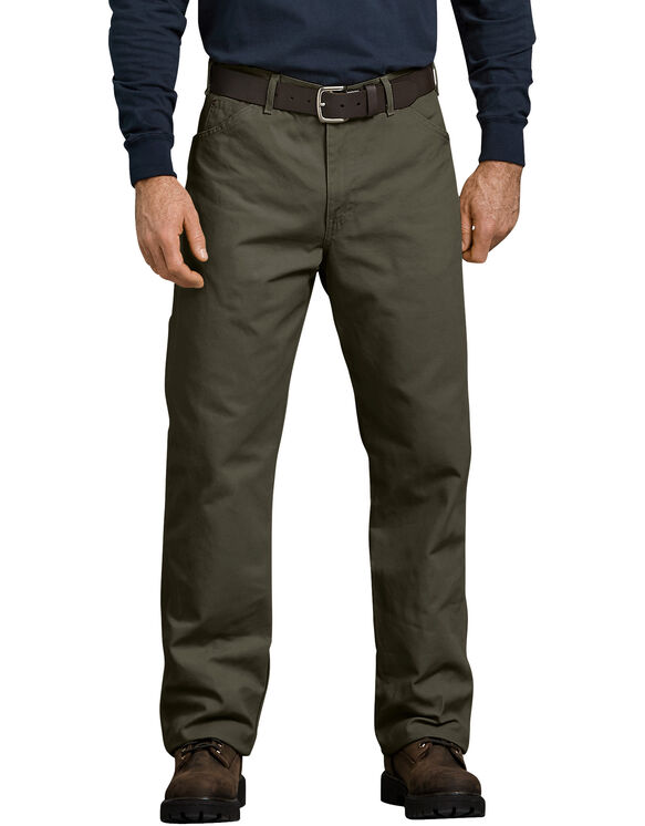 Relaxed Fit Carpenter Duck Jean - Moss Green (RMS)