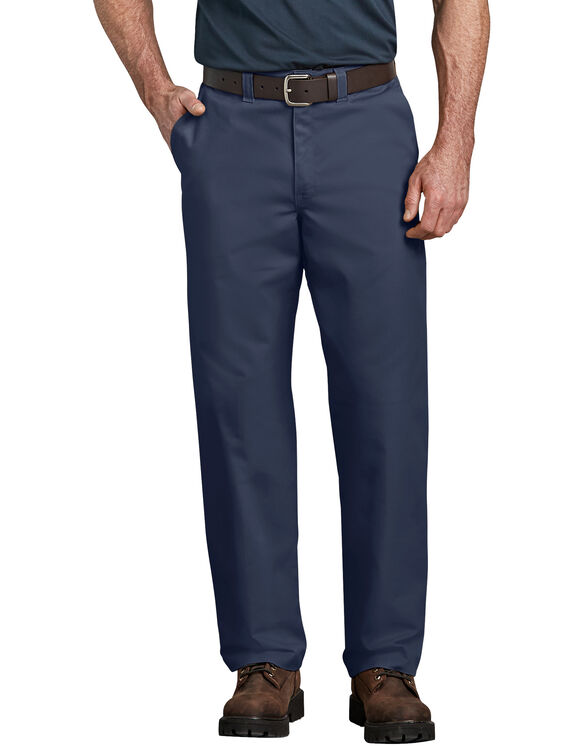 Industrial Relaxed Fit Straight Leg Comfort Waist Pant - Navy Blue (NV)