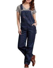 Women's Denim Bib Overall - DARK INDIGO BLACK (DIB)