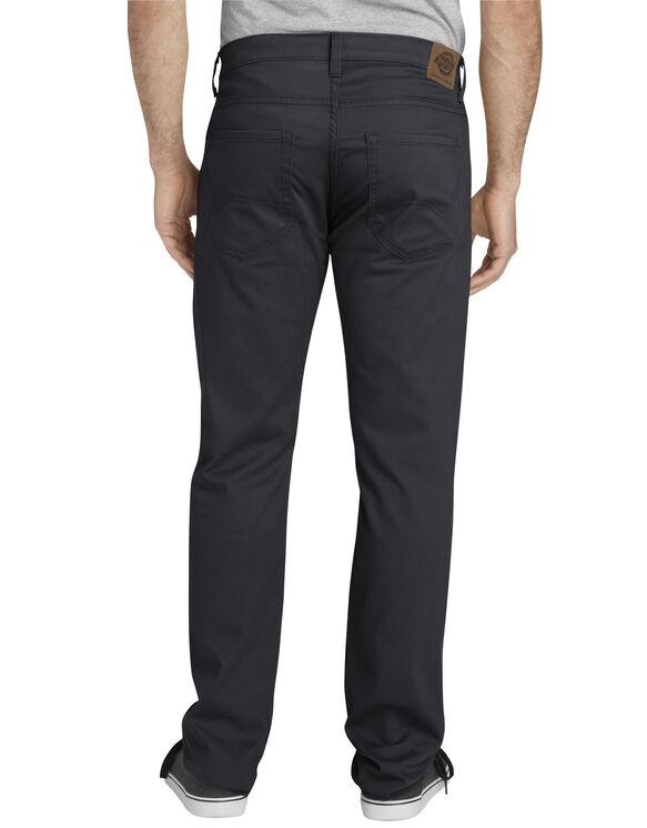 Dickies X-Series Slim Fit Tapered Leg 5-Pocket Pants - Rinsed Black (RBK)