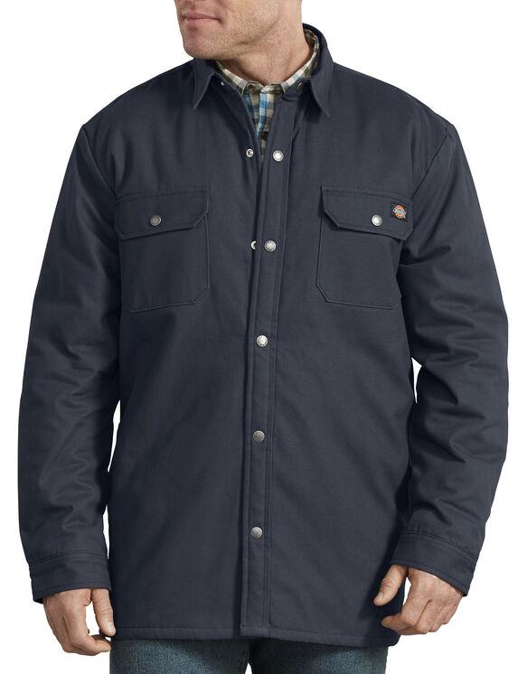 Plaid Lined Shirt Jacket - Dark Navy (DN)