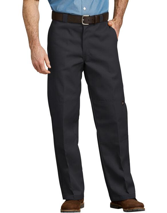 Loose Fit Double Knee Work Pants - Black (BK)